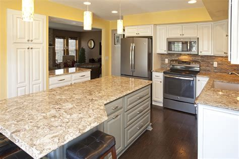 apple valley kitchen cabinets real home feature two toned apple valley kitchen remodel