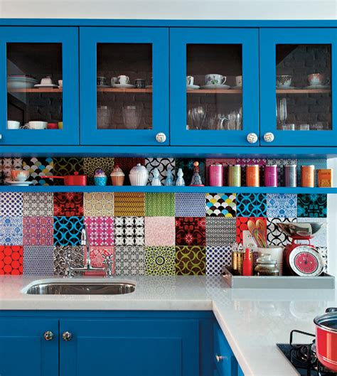 colorful kitchen colorful kitchen decoration backsplash tiles