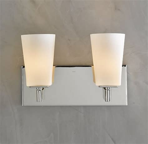 modern bathroom light fixture modern bathroom light fixtures from restoration hardware