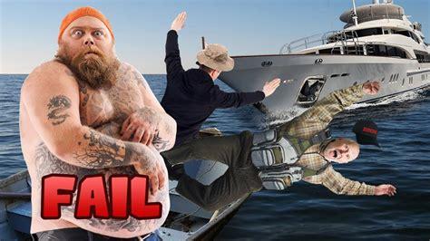 boat r fails youtube idiot yacht crashes into tiny fishing boat insane boat