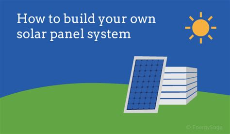 how to build a solar panel diy solar energysage