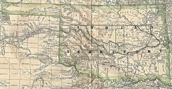 indian territory map oklahoma indian territory and oklahoma territory maps