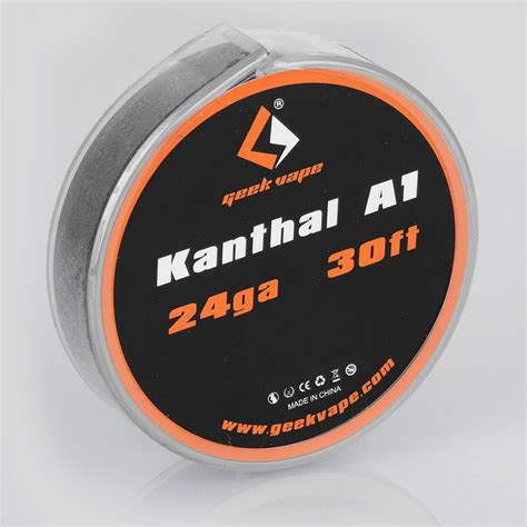 authentic geekvape kanthal a1 24ga 0 5mm 10m heating resistance wire
