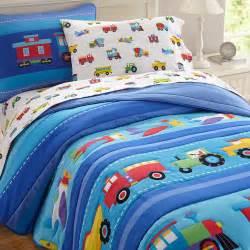 Boys bedding twin full queen blue comforter set cotton bedspread