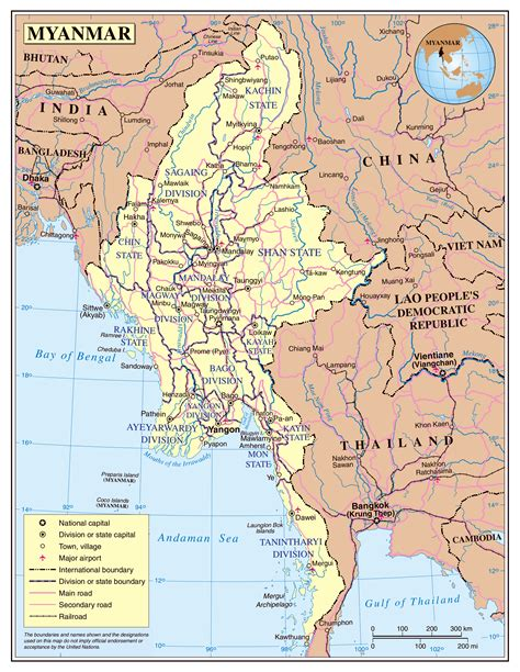 map of with towns maps of myanmar burma detailed map of myanmar in