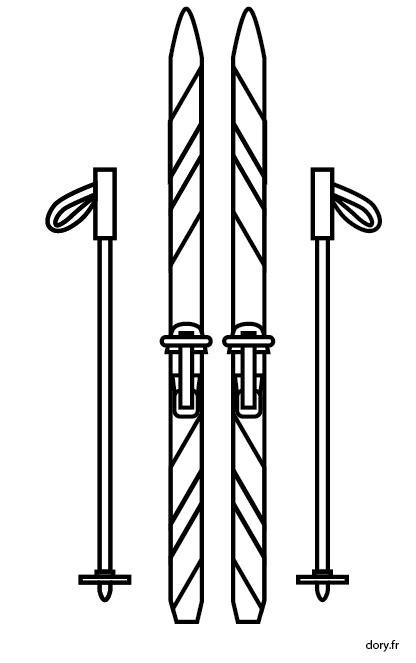 Dessin 224 Imprimer Des Skis Et Les B 226 Tons Dory Fr Coloriages
