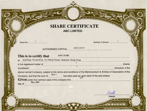 share certificate template uk blank stock certificate