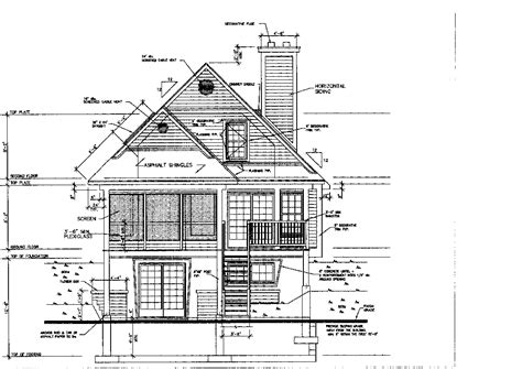 Architectural Drawing Of Pitched Roof House Exploded Architectural Design Using Autocad