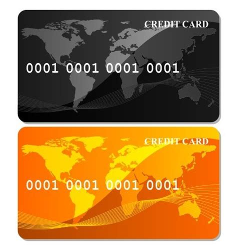 Black Credit Card Template by Free Black Orange Credit Card Templates Vector Titanui