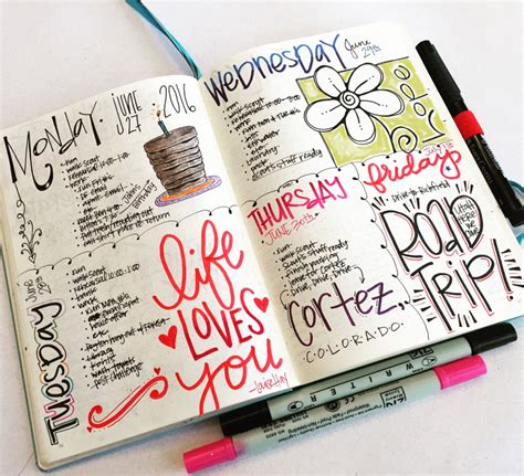 design my journal t matthews fine art bullet journal pages 56 57