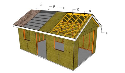 plans to build a garage how to build a garage roof howtospecialist how to build step by step diy plans