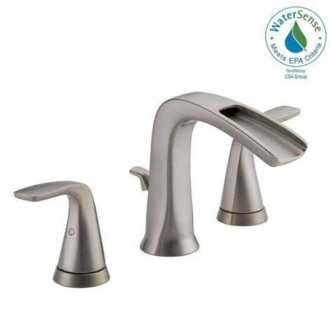widespread bathroom sink faucet delta brushed nickel widespread faucet widespread brushed