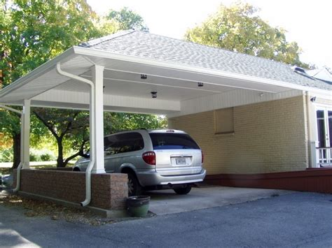 Attached Car Port by Carport Carports Attached To House