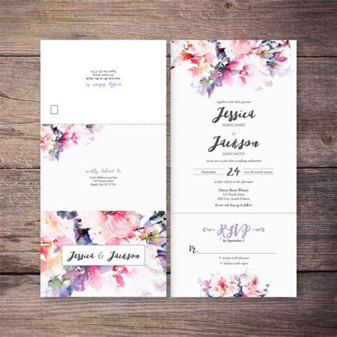 flower design wedding invitation 17 beste idee 235 n over floral wedding invitations op