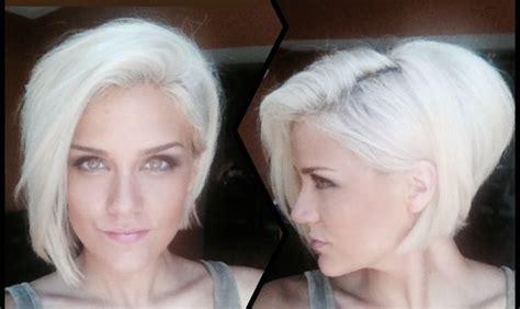photos of platium and white haircolors and hairstyles white hair platinum blonde asymmetrical bob girl