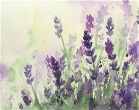 What Do The Water Colors In A Foot Detox by Purple Flowers Watercolor Painting And Lavender On