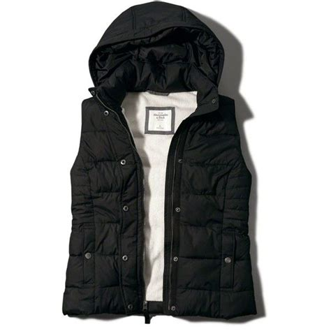 Hollister Puff Jacket abercrombie fitch hooded puffer vest 32 liked on