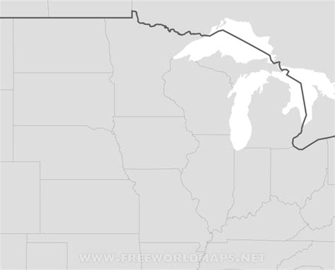 blank midwest map blank map midwest states