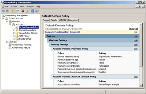 windows reset domain password how to change active directory password policy in windows