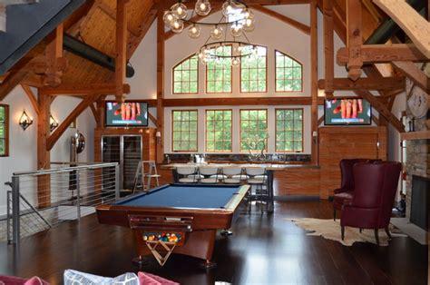 Barn Style Home Floor Plans media game room converted barn in harding nj