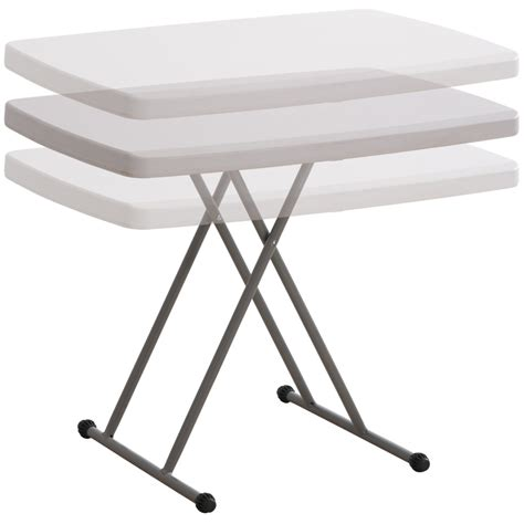 collapsible high top table folding table collapsible adjustable height reading dinner