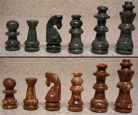 marble chess set chess set with marble 16 quot board brown and green pieces 3 3 8 quot new ebay