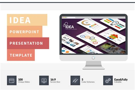 Idea Flat Powerpoint Template Presentation Templates On Creative Market Powerpoint Template Ideas
