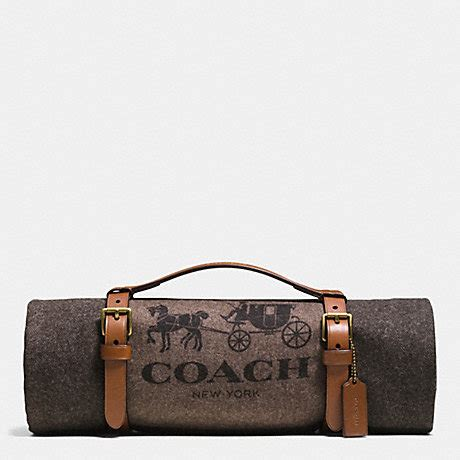 Coach Carrier by Coach F62710 Essex Buffalo Check Blanket With Carrier