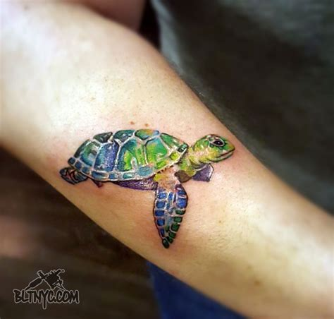 sea turtle watercolor tattoo www imgkid com the image