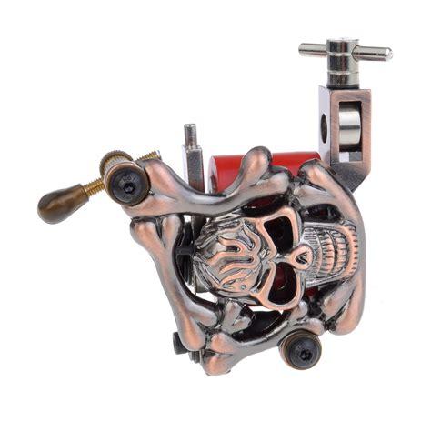tattoo machine running hot hot big skull cast iron empaisitic tattoo machine gun for