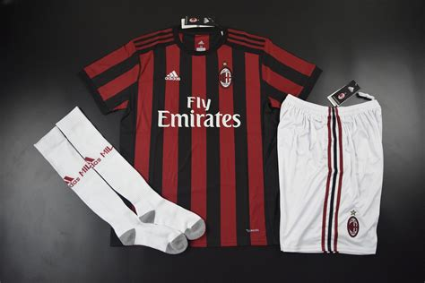 Jersey Ac Milan Home Sleeve Musim 2017 2018 ac milan 2017 2018 home whole kit jersey shorts socks 1706071634 usd 45 99 cheap soccer