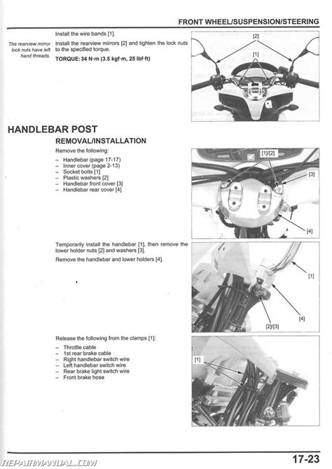 2013 2015 honda pcx150 scooter service manual