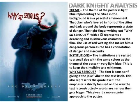 themes in film studies batman the dark knight poster analysis a2 media studies
