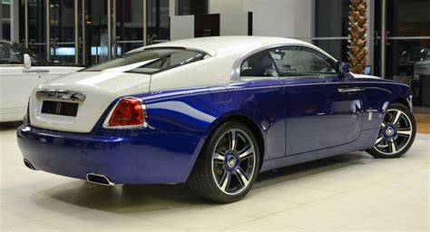 rolls royce wraith blue blue and white rolls royce wraith is bespoke to its