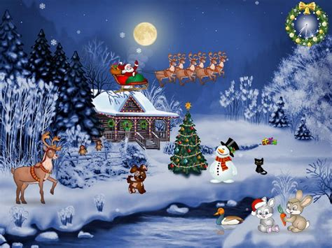 wallpaper christmas cartoon animated free christmas mobile wallpapers christmas