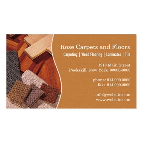 carpets and floors double sided standard business cards pack of 100 zazzle