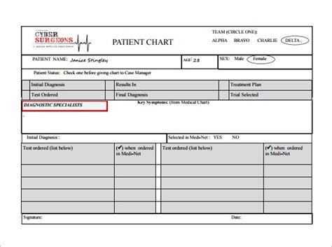 dental record card audit template 7 patient chart templates doc pdf excel free