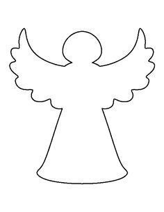 printable angel template angel templates for angel trees this template shows a