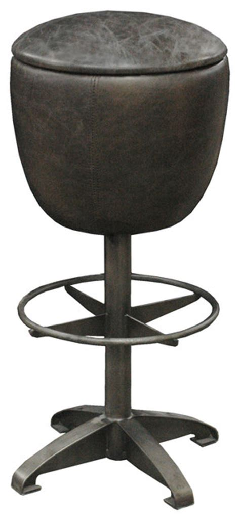 top grain leather bar stools clyde rustic retro distressed top grain leather black bar