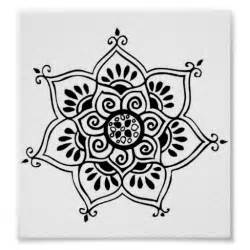 Tribal Lotus Flower Lotus Flower Tribal Posters Zazzle
