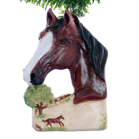 personalized horse christmas ornament bay horse ornament