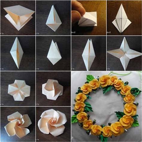 Cool Origami Flowers - wonderful diy pretty origami twisty
