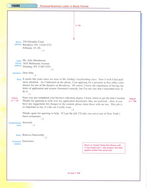 personal letter format exles best photos of personal business letter template