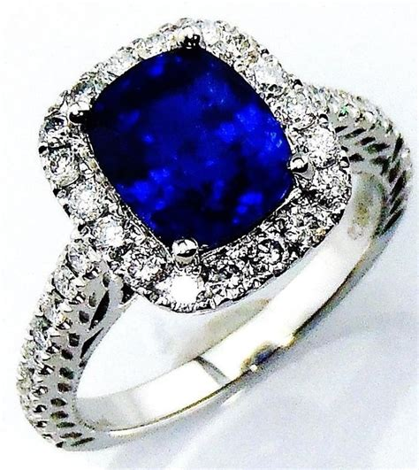 Royal Blue Saphire royal blue sapphire ring certified platinum 4 01 tcw
