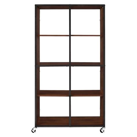 target room divider bookcase restore room divider and bookcase brown ameriw target