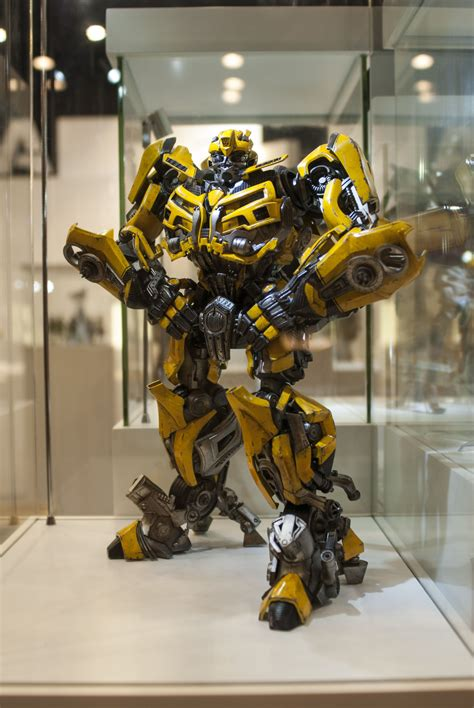 Transformers Autobots Optimus Prime Bumblebee Figure transfomers bumblebee on display at toysoul bambaland exclusive version at the moment is still
