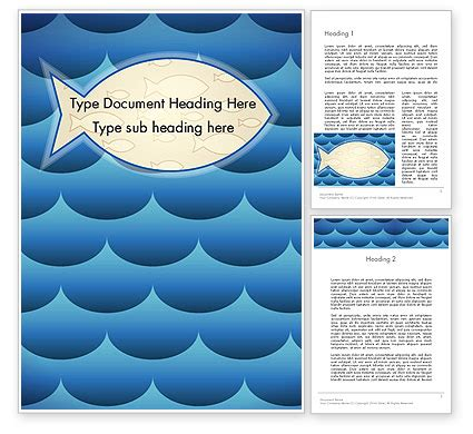 background themes in word fish theme background word template 12293