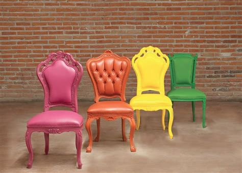 Coloured Dining Room Chairs Colorful Furniture From Polart That Will Most Likely