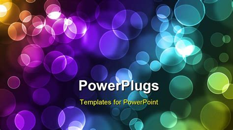 colorful modern circles powerpoint templates powerpoint template abstract glowing colorful circles on a background 14335