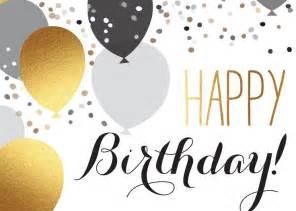 happy birthday elegant silver gold balloons happy